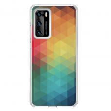 "Tpu Dėklas Unikaliu Dizainu 1.0 Mm ""U-Case Airskin Pattern 3 Design"" Huawei P40 Telefonui"