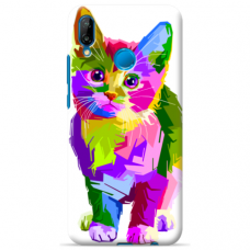 "Tpu Dėklas Unikaliu Dizainu 1.0 Mm ""U-Case Airskin Kitty Design"" Huawei P20 Lite Telefonui"