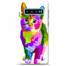 "Tpu Dėklas Unikaliu Dizainu 1.0 Mm ""U-Case Airskin Kitty Design"" Samsung Galaxy S10 Telefonui"