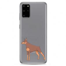 "Tpu Dėklas Unikaliu Dizainu 1.0 Mm ""U-Case Airskin Doggo 6 Design"" Samsung Galaxy S10 Lite Telefonui"