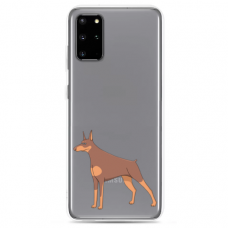 "Tpu Dėklas Unikaliu Dizainu 1.0 Mm ""U-Case Airskin Doggo 6 Design"" Samsung Galaxy S20 Telefonui"