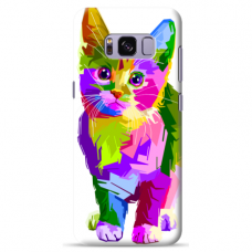 "Tpu Dėklas Unikaliu Dizainu 1.0 Mm ""U-Case Airskin Kitty Design"" Samsung Galaxy Note 8 Telefonui"