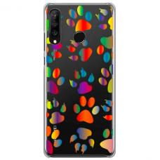 "Tpu Dėklas Unikaliu Dizainu 1.0 Mm ""U-Case Airskin Paw Design"" Huawei P40 Lite E Telefonui"