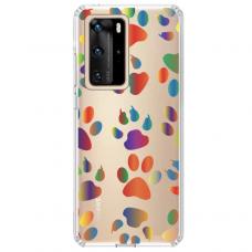 "Tpu Dėklas Unikaliu Dizainu 1.0 Mm ""U-Case Airskin Paw Design"" Huawei P40 Pro Telefonui"