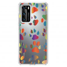 "Tpu Dėklas Unikaliu Dizainu 1.0 Mm ""U-Case Airskin Paw Design"" Huawei P40 Telefonui"