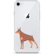 "Tpu Dėklas Unikaliu Dizainu 1.0 Mm ""U-Case Airskin Doggo 6 Design"" Iphone 7 Plus / Iphone 8 Plus Telefonui"