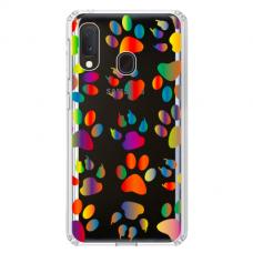 "Tpu Dėklas Unikaliu Dizainu 1.0 Mm ""U-Case Airskin Paw Design"" Samsung Galaxy A20E Telefonui"