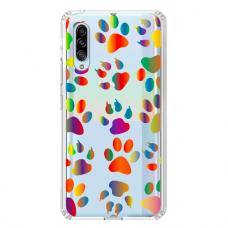 "Tpu Dėklas Unikaliu Dizainu 1.0 Mm ""U-Case Airskin Paw Design"" Samsung Galaxy A50 Telefonui"