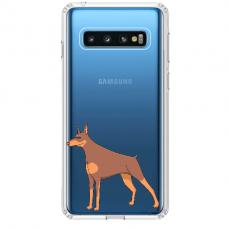 """Tpu Dėklas Unikaliu Dizainu 1.0 Mm """"U-Case Airskin Doggo 6 Design"""" Samsung Galaxy S10 Plus Telefonui"""