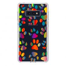 "Tpu Dėklas Unikaliu Dizainu 1.0 Mm ""U-Case Airskin Paw Design"" Samsung Galaxy S10E Telefonui"