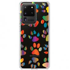 "Tpu Dėklas Unikaliu Dizainu 1.0 Mm ""U-Case Airskin Paw Design"" Samsung Galaxy S20 Ultra Telefonui"