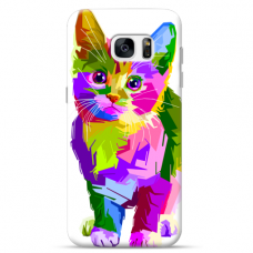 "Tpu Dėklas Unikaliu Dizainu 1.0 Mm ""U-Case Airskin Kitty Design"" Samsung Galaxy S7 Telefonui"