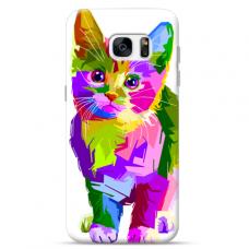 "Tpu Dėklas Unikaliu Dizainu 1.0 Mm ""U-Case Airskin Kitty Design"" Samsung Galaxy S7 Edge Telefonui"