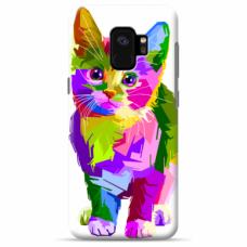 "Tpu Dėklas Unikaliu Dizainu 1.0 Mm ""U-Case Airskin Kitty Design"" Samsung Galaxy S9 Telefonui"