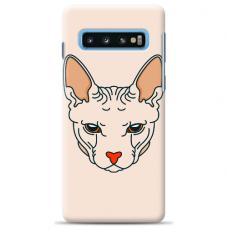 "Tpu Dėklas Unikaliu Dizainu 1.0 Mm ""U-Case Airskin Kato Design"" Samsung Galaxy S10 Telefonui"