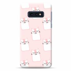 "Tpu Dėklas Unikaliu Dizainu 1.0 Mm ""U-Case Airskin Pink Kato Design"" Samsung Galaxy S10E Telefonui"