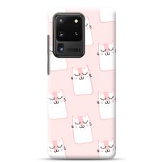 "Tpu Dėklas Unikaliu Dizainu 1.0 Mm ""U-Case Airskin Pink Kato Design"" Samsung Galaxy S20 Ultra Telefonui"