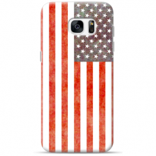 "Tpu Dėklas Unikaliu Dizainu 1.0 Mm ""U-Case Airskin Usa Design"" Samsung Galaxy S7 Telefonui"