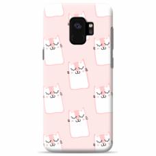 "Tpu Dėklas Unikaliu Dizainu 1.0 Mm ""U-Case Airskin Pink Kato Design"" Samsung Galaxy A8 2018 Telefonui"
