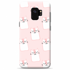 "Tpu Dėklas Unikaliu Dizainu 1.0 Mm ""U-Case Airskin Pink Kato Design"" Samsung Galaxy S9 Telefonui"