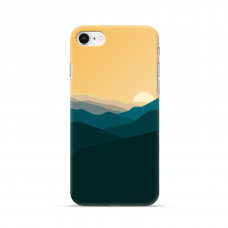 "TPU DĖKLAS UNIKALIU DIZAINU 1.0 mm ""U-CASE AIRSKIN MOUNTAINS 2 DESIGN"" IPHONE SE 2020 TELEFONUI"
