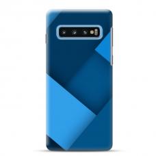 "Tpu Dėklas Unikaliu Dizainu 1.0 Mm ""U-Case Airskin Blue Design"" Samsung Galaxy S10 Telefonui"