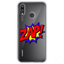 "Tpu Dėklas Unikaliu Dizainu 1.0 Mm ""U-Case Airskin Zap Design"" Huawei P20 Lite Telefonui"