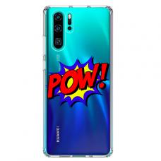 "Tpu Dėklas Unikaliu Dizainu 1.0 Mm ""U-Case Airskin Pow Design"" Huawei P30 Pro Telefonui"