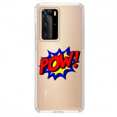 "Tpu Dėklas Unikaliu Dizainu 1.0 Mm ""U-Case Airskin Pow Design"" Huawei P40 Telefonui"