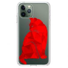 """Tpu Dėklas Unikaliu Dizainu 1.0 Mm """"U-Case Airskin Red Cat Design"""" Iphone 11 Pro Telefonui"""