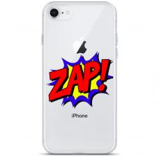 """Tpu Dėklas Unikaliu Dizainu 1.0 Mm """"U-Case Airskin Zap Design"""" Iphone 6 / Iphone 6S Telefonui"""