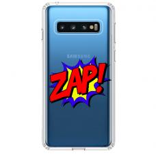 "Tpu Dėklas Unikaliu Dizainu 1.0 Mm ""U-Case Airskin Zap Design"" Samsung Galaxy S10 Plus Telefonui"