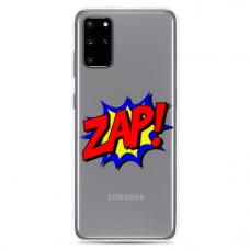 "Tpu Dėklas Unikaliu Dizainu 1.0 Mm ""U-Case Airskin Zap Design"" Samsung Galaxy S20 Telefonui"