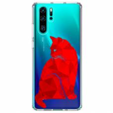 """Tpu Dėklas Unikaliu Dizainu 1.0 Mm """"U-Case Airskin Red Cat Design"""" Huawei P30 Pro Telefonui"""