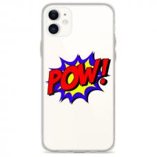 "TPU DĖKLAS UNIKALIU DIZAINU 1.0 MM ""U-CASE AIRSKIN POW DESIGN"" IPHONE 11 TELEFONUI"