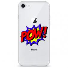 "Tpu Dėklas Unikaliu Dizainu 1.0 Mm ""U-Case Airskin Pow Design"" Iphone 7 / Iphone 8 / Iphone Se 2020 Telefonui"