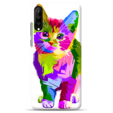 "Tpu Dėklas Unikaliu Dizainu 1.0 Mm ""U-Case Airskin Kitty Design"" Samsung Galaxy A7 2018 Telefonui"