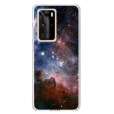 "Tpu Dėklas Unikaliu Dizainu 1.0 Mm ""U-Case Airskin Space 2 Design"" Huawei P40 Pro Telefonui"