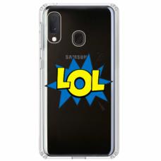 """Tpu Dėklas Unikaliu Dizainu 1.0 Mm """"U-Case Airskin Lol Design"""" Samsung Galaxy A20E Telefonui"""
