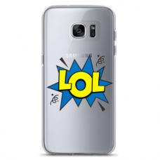 "Tpu Dėklas Unikaliu Dizainu 1.0 Mm ""U-Case Airskin Lol Design"" Samsung Galaxy S6 Edge Telefonui"
