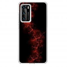 "Tpu Dėklas Unikaliu Dizainu 1.0 Mm ""U-Case Airskin Space 3 Design"" Huawei P40 Telefonui"