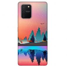 """Tpu Dėklas Unikaliu Dizainu 1.0 Mm """"U-Case Airskin Nature 5 Design"""" Samsung Galaxy S10 Lite Telefonui"""