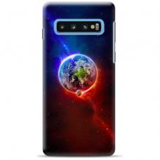 "Tpu Dėklas Unikaliu Dizainu 1.0 Mm ""U-Case Airskin Nature 4 Design"" Samsung Galaxy S10 Plus Telefonui"