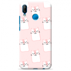 "Tpu Dėklas Unikaliu Dizainu 1.0 Mm ""U-Case Airskin Pink Kato Design"" Huawei P Smart 2019 Telefonui"