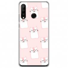 "Tpu Dėklas Unikaliu Dizainu 1.0 Mm ""U-Case Airskin Pink Kato Design"" Huawei P30 Lite Telefonui"