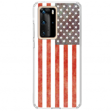 "Tpu Dėklas Unikaliu Dizainu 1.0 Mm ""U-Case Airskin Usa Design"" Huawei P40 Telefonui"