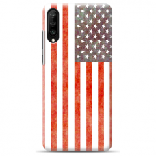 "Tpu Dėklas Unikaliu Dizainu 1.0 Mm ""U-Case Airskin Usa Design"" Samsung Galaxy A50 Telefonui"