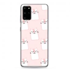 "Tpu Dėklas Unikaliu Dizainu 1.0 Mm ""U-Case Airskin Pink Kato Design"" Samsung Galaxy Note 10 Lite Telefonui"