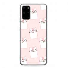 "Tpu Dėklas Unikaliu Dizainu 1.0 Mm ""U-Case Airskin Pink Kato Design"" Samsung Galaxy S20 Telefonui"