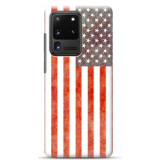 "Tpu Dėklas Unikaliu Dizainu 1.0 Mm ""U-Case Airskin Usa Design"" Samsung Galaxy S20 Ultra Telefonui"